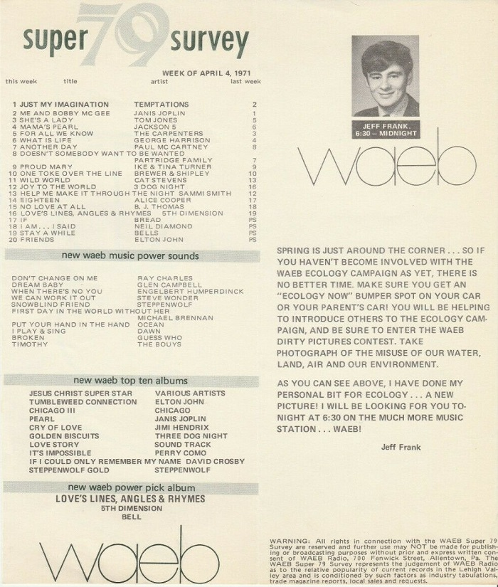 WAEB 790 Allentown Survey 04/04/71
